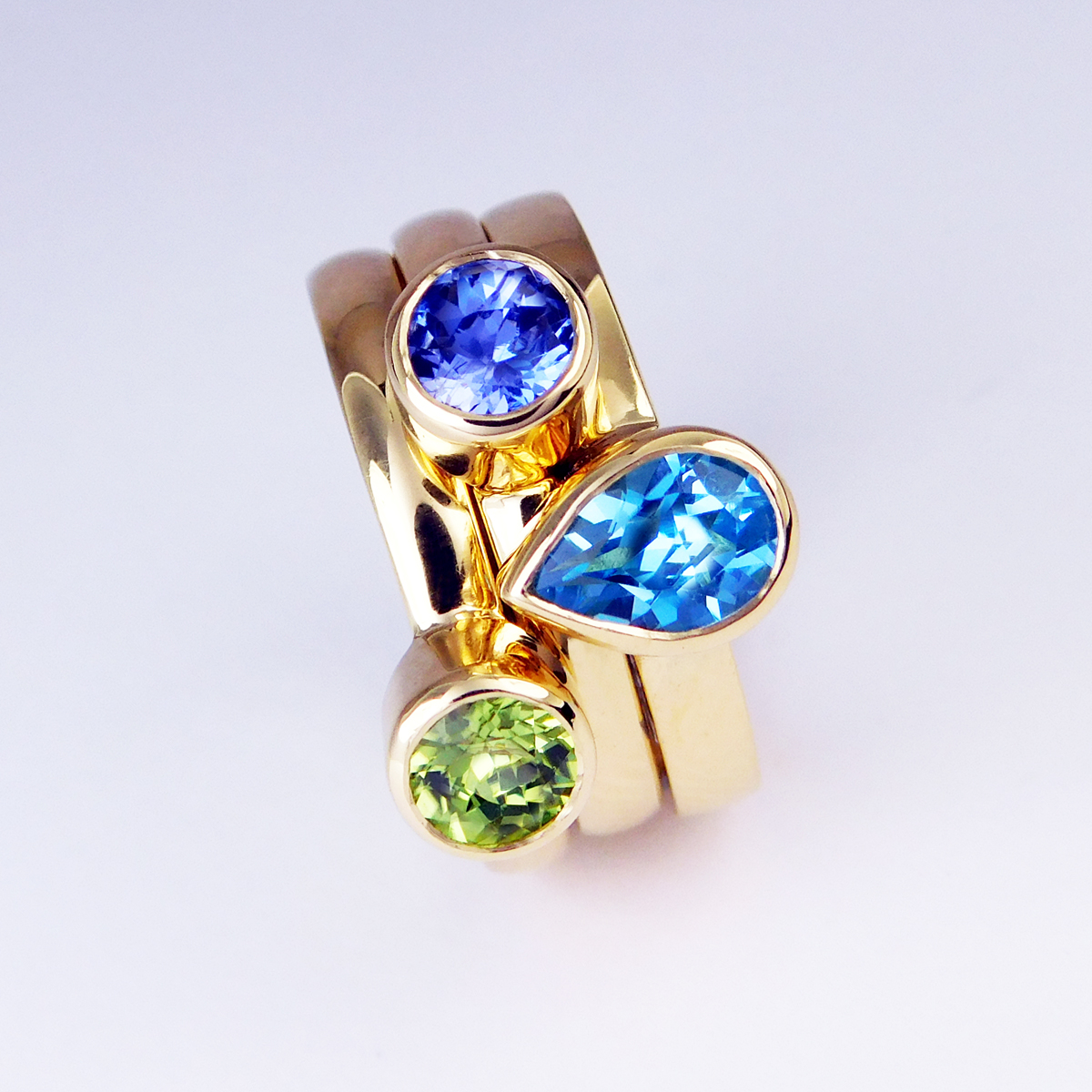 NEW- Gold stacking rings
