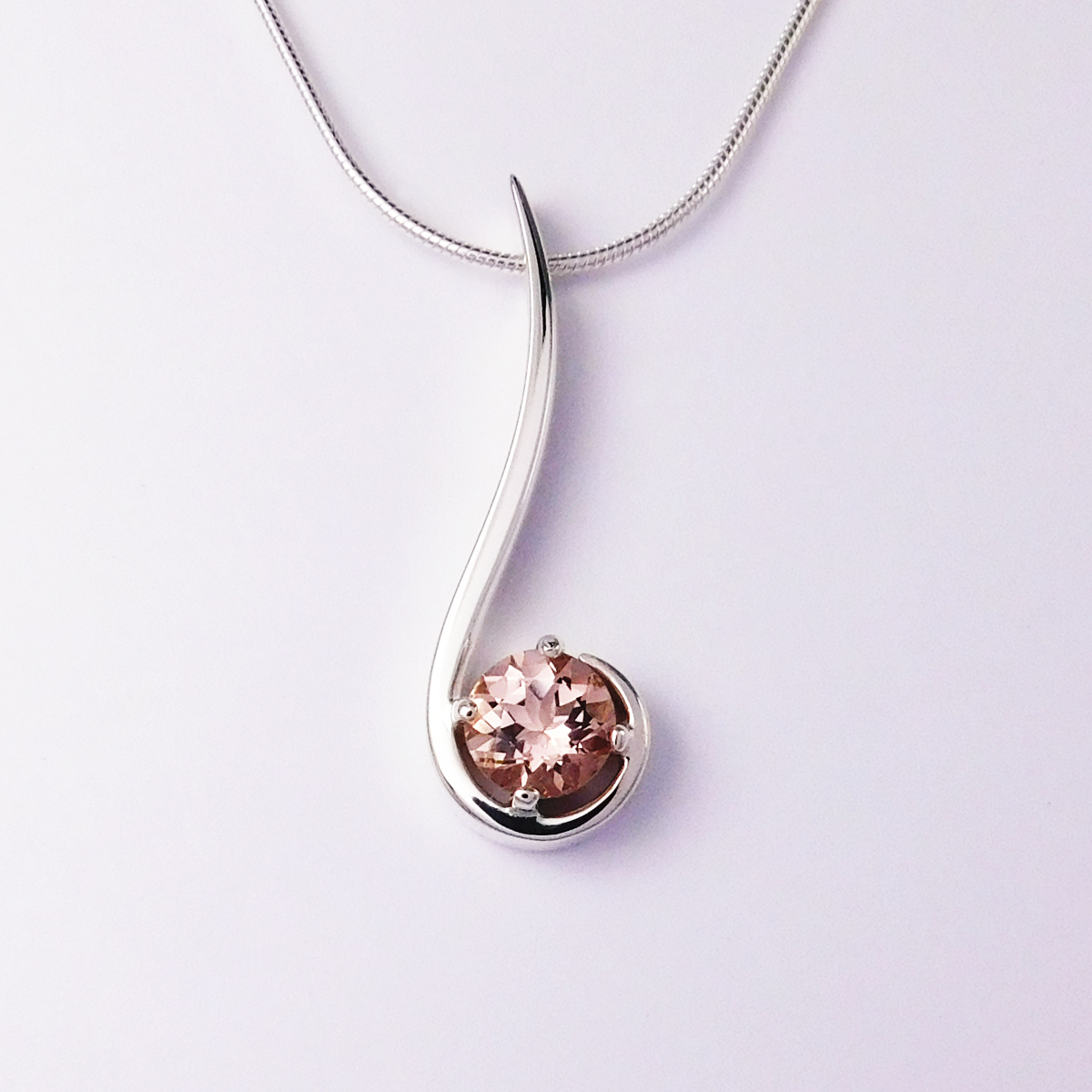 New Signature Morganite Pendant