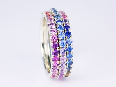 Three Row Sapphire Eternity Ring